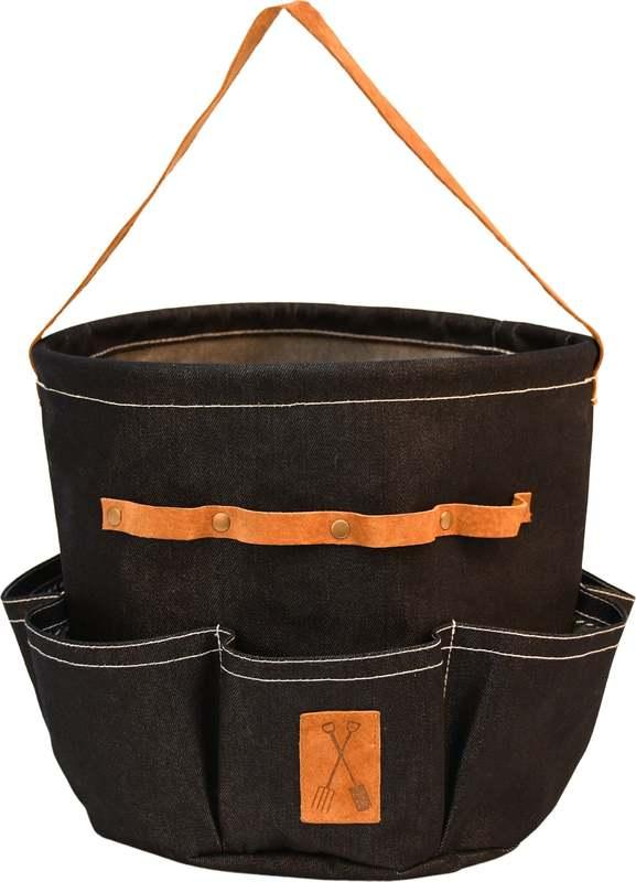 Round Denim Garden Tool Bag