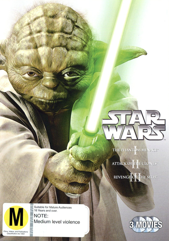 Star Wars I, II, III (Prequel Trilogy) on DVD