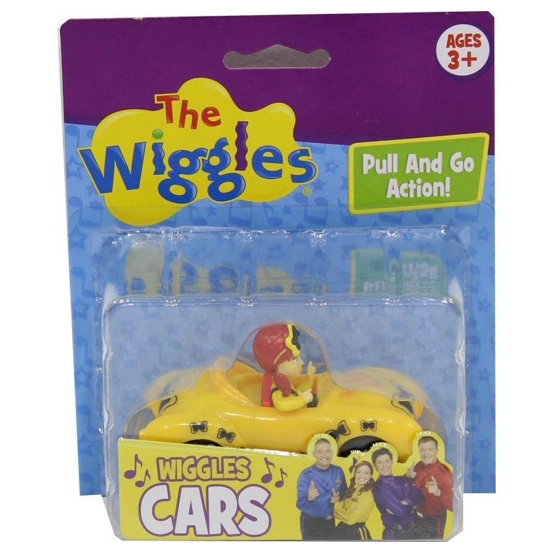 "Wiggles: 3"" Pull Back & Go Car - Emma (YELLOW) image"