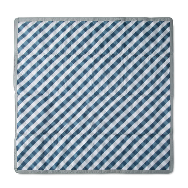 "Little Unicorn: Outdoor Blanket - Navy Gingham (5"" x 5"")"