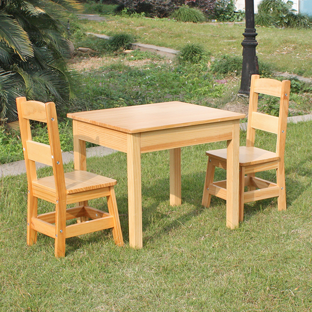 Wooden Children's Table & Chairs