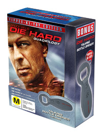 Die Hard Quadrilogy - Yippee-Ki-Yay Edition (8 Disc Box Set) (Includes Bottle Opener) on DVD