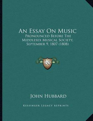an essay on music Writing sample of essay on a given topic music appreciation.
