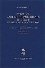 Decline and Economic Ideals in Italy in the Early Modern Age by Gino Barbieri