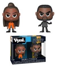 Black Panther: Shuri + T'Challa - Vynl. Figure 2-Pack