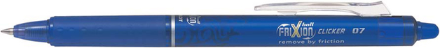 Pilot FriXion Clicker Gel Pen Blue