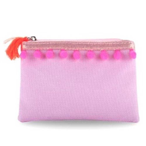 Pink Poppy: Pom Pom Party Coin Purse - (Lilac) image