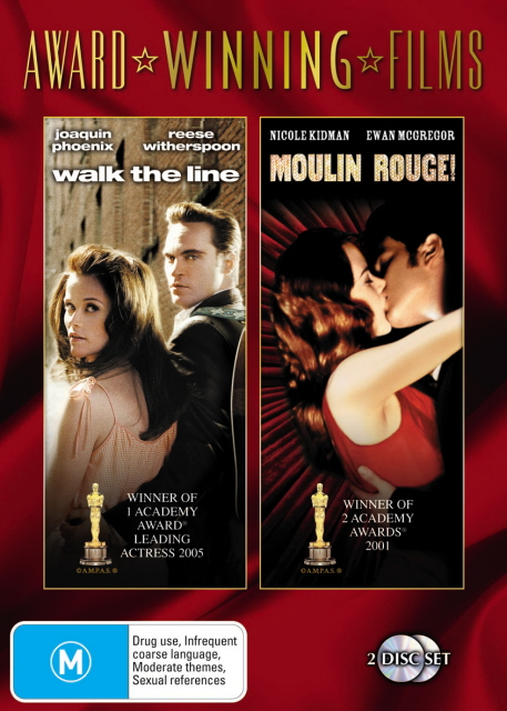 Walk The Line / Moulin Rouge (2001) (Award Winning Films) (2 Disc Set) on DVD image