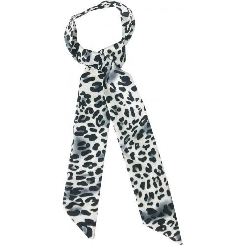 Leopard Print Hair Tie - Black