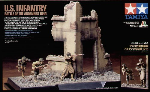 Tamiya U S  Infantry Battle of Ardennes 1/35 Scene Diorama Set   at