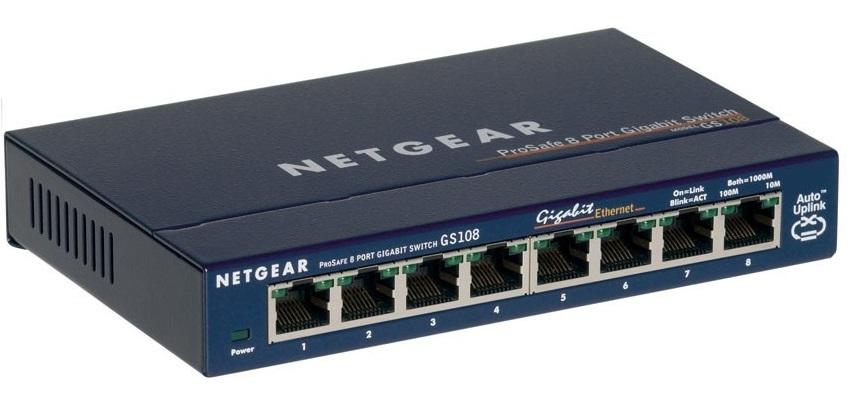 Netgear GS108 ProSafe 8-Port Gigabit Switch image
