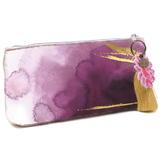 Papaya Small Cosmetics Bag - Plum Watercolour