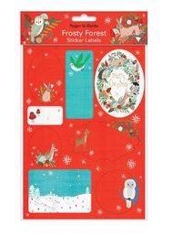 Roger La Borde: Sticker Labels - Frosty Forest Wreath