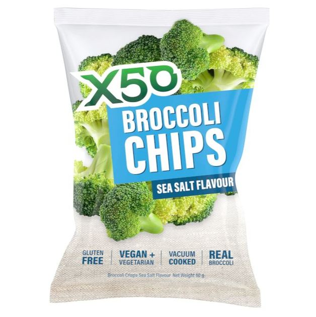X50 Broccoli Chips - Sea Salt (40g)
