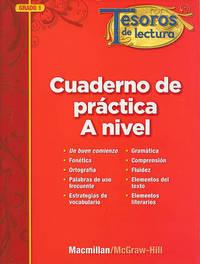Tesoros de Lectura, a Spanish Reading/Language Arts Program, Grade 1, Practice Book, Pupil Edition by MacMillan/McGraw-Hill image