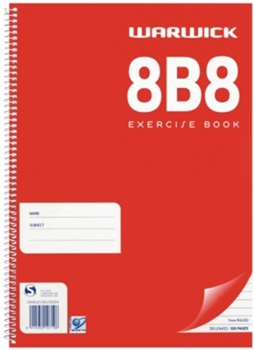 Warwick 8B8 50lf Spiral Exercise Book