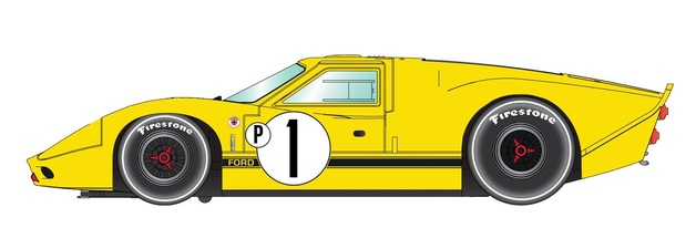 Scalextric: Ford GT40 MKIV 1967 Sebring Winner - Slot Car