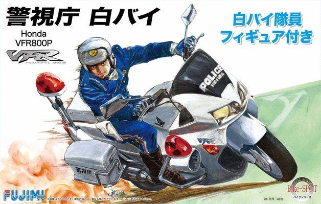 Fujimi: 1/12 Honda VFR800P Police Motorcycle w/ figure - Model Kit