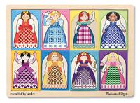 Melissa & Doug: Peek Through Puzzle Princesses - 8 Pcs
