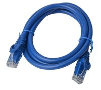 8ware: Cat 6a UTP Ethernet Cable Snagless - 1m (Blue)