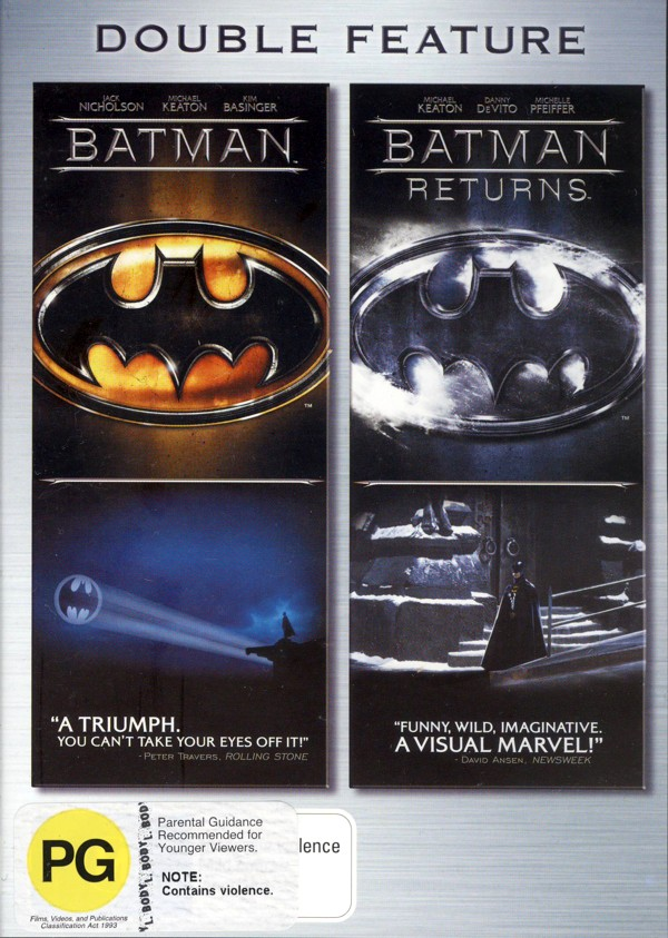 Batman / Batman Returns - Double Feature (2 Disc Set) on DVD image