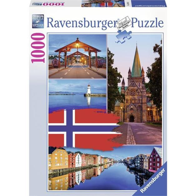 Ravensburger : Trondheim Collage Puzzle (1000 Pcs)