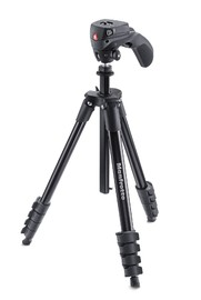 Manfrotto Compact Action Aluminum Tripod (Black) image