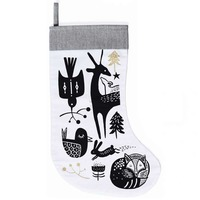 Wee Gallery: Organic Holiday Stocking - Black On White