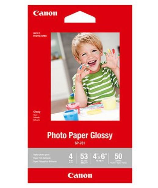 Canon GP701 4x6 Glossy Photo Paper 210GSM (50 Sheets)