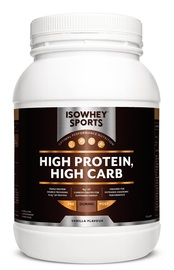 IsoWhey Sports High Protein, High Carb Powder - Vanilla (1.2kg)