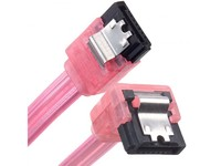 90 Degree SATA Data Cable (UV Reactive Red)