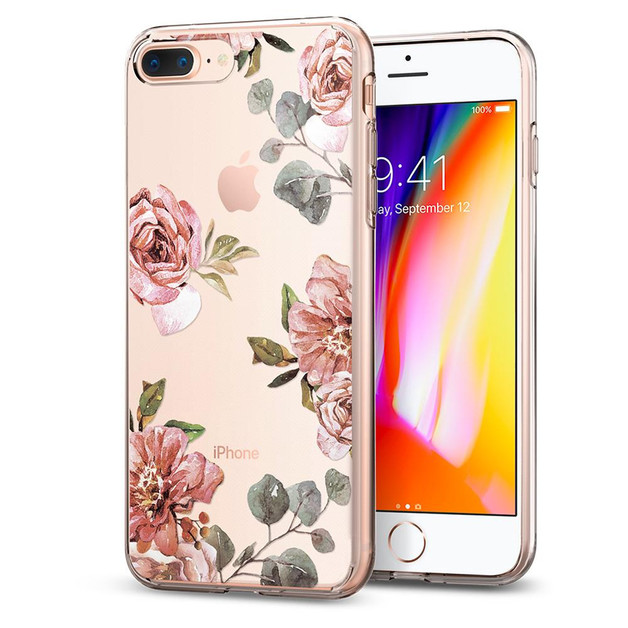 Spigen iPhone 8 Plus /7 Plus Liquid Crystal Case Aquarelle Rose