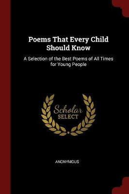 Poems That Every Child Should Know by * Anonymous image