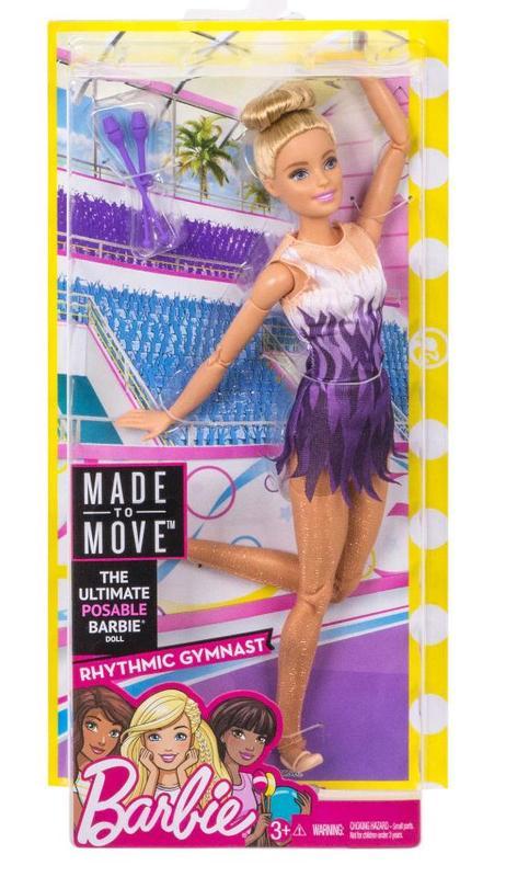 Barbie: Made to Move - Rhythmic Gymnast Doll (Blond)