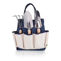 Picnic Time: Garden Tote with Tools (Navy & Beige) image