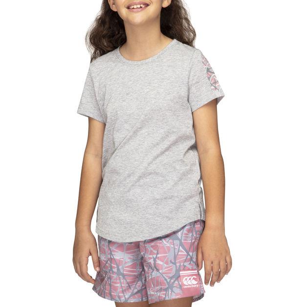Canterbury: Girls Camo Logo Tee - Classic Marl (Size 12)