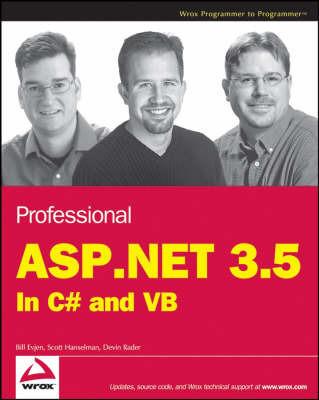 Professional ASP.NET 3.5 by Bill Evjen