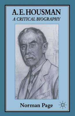 A. E. Housman by Norman Page image