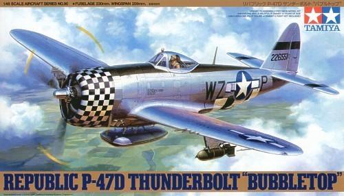 "Tamiya U.S. P-47D Thunderbolt ""Bubbletop"" 1/48 Aircraft Model Kit"