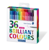 Staedtler Triplus Fineliner Assorted Colours Pkt36 image