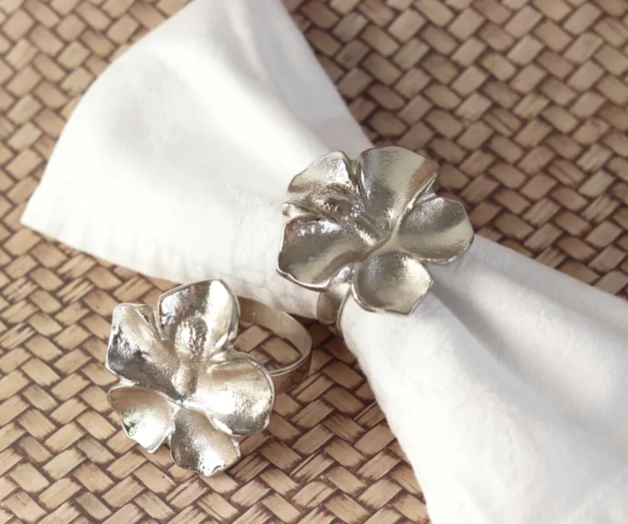 Hibiscus Napkin Ring (silver)