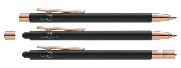 Faber-Castell: Neo Slim Ball Pen - Matt Black/Rose Gold