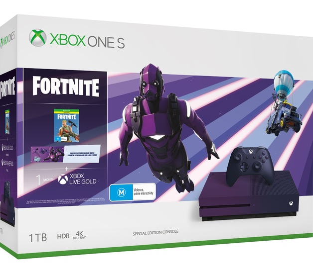 Xbox One S 1TB Fortnite Battle Royale Special Edition Console Bundle for Xbox One