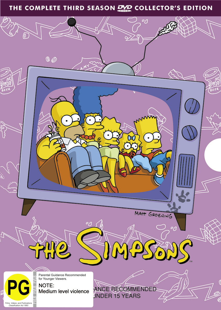 The Simpsons - The Complete Third Season on DVD image