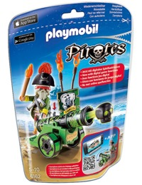 Playmobil: Foil Bag - Green Captain & Cannon (6162)
