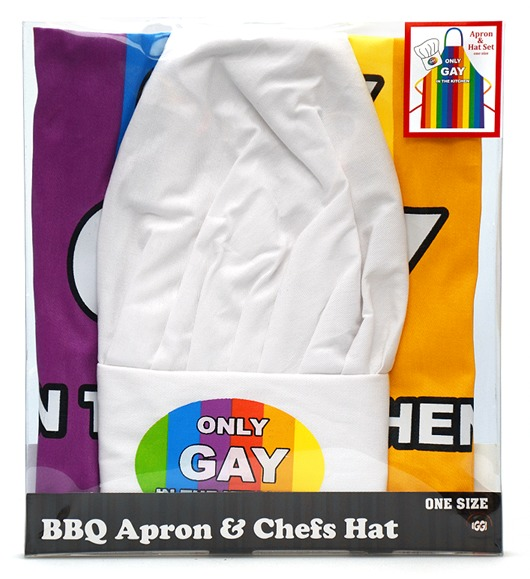 IGGI: Only Gay In The Kitchen - Apron & Hat Set image
