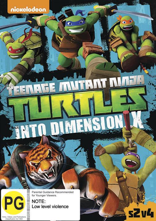 Teenage Mutant Ninja Turtles: Season 2, Volume 4 Into Dimension X on DVD