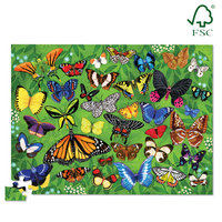 Crocodile Creek 36 Animal Puzzle Butterflies 100pc image