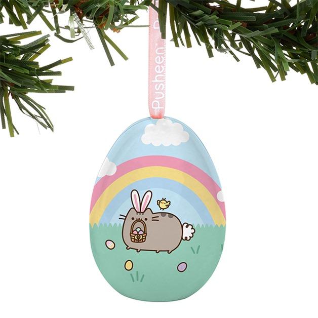 Pusheen: Tin Egg Ornament - Easter Bunny