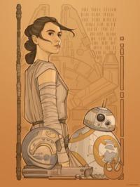 Star Wars: Lithograph Art Print - Beyond Jakku